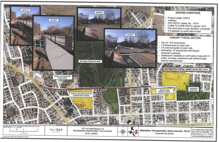 Huntsville applies for TxDOT grant to construct more sidewalks near schools