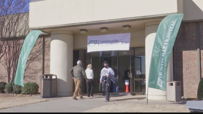 Hundreds vaccinated at Huntsville Hospital's first COVID-19 Community Vaccination Clinic