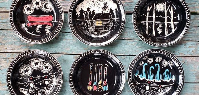 Art Fx #9: Sgraffito pottery by Karen Gray