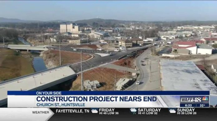 Intersection at Church and Pratt in Huntsville set for slight reopening