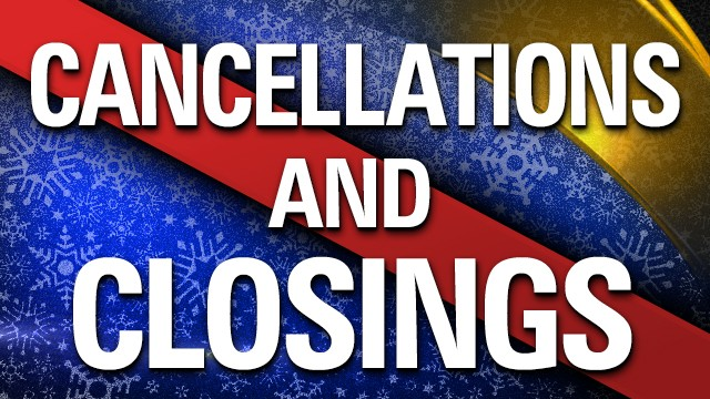 LIST: North Alabama winter weather causing closures, cancellations, delays