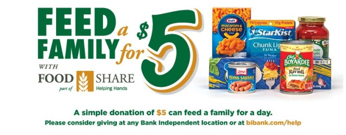 Bank Independent Collecting Food, Supplies for Area Food Banks