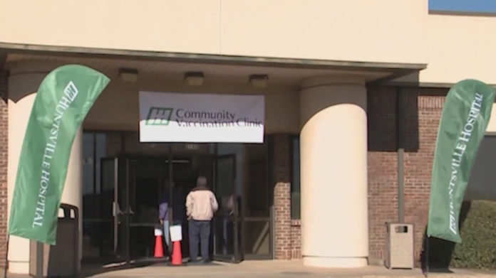 Demand greater than dose rate at Huntsville's mass vaccination clinic