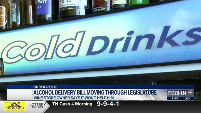 Local wine store owner talks alcohol delivery bill as it moves through legislature