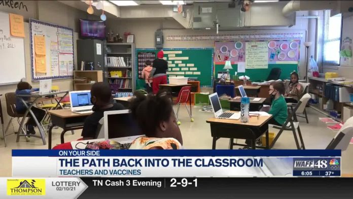 Teachers continue to wait on vaccine, educators worry about future of virtual learning