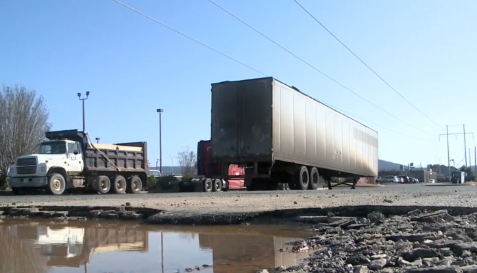 """""""Maybe we can help, maybe not,"""" say Huntsville officials looking into growing truck parking issue"""
